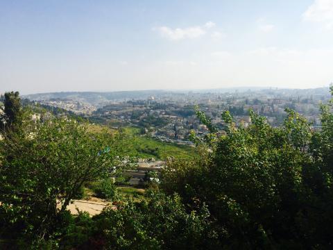 jerusalem vue du mont scopus