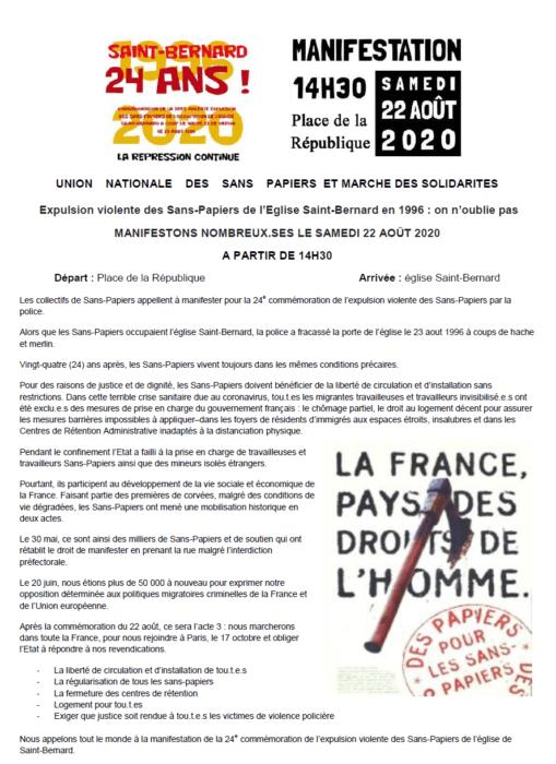 Tract Saint-Bernard 2020