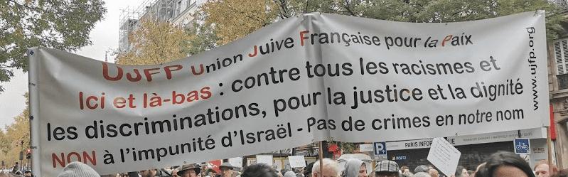 L'UJFP la manifestation parisienne contre l'islamophobie le 10-11-2019