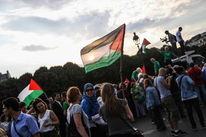 Manifestation pour le peuple palestinien à Paris. Photo : Jeanne Frank ©