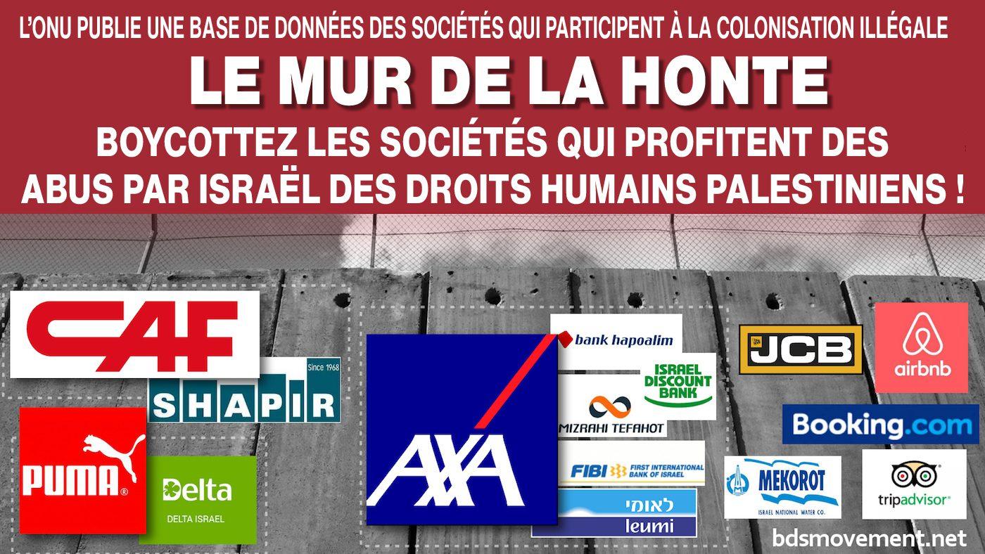 Liste onusienne de compagnies qui sont complices de l'entreprise de colonisation illégale d'Israël